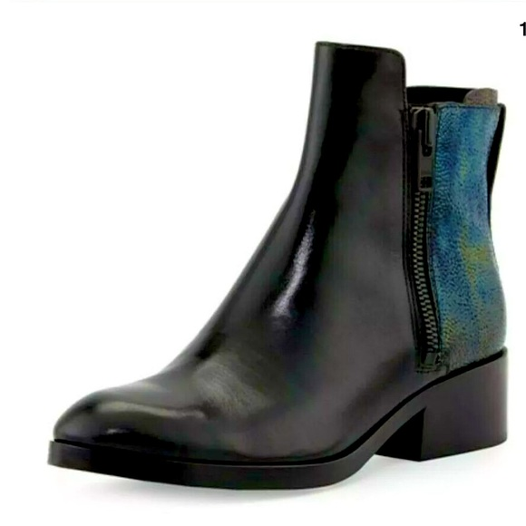 3.1 Phillip Lim Shoes - NIB‼️3.1 Phillip Lim Alexa Petrol Blk Leather Boot